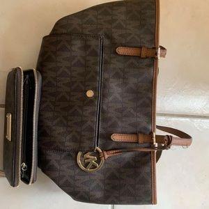 Matching MK purse and wallet set